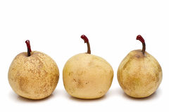 Pears on line Stock Photo