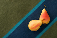 Pears on a linen cloth Stock Image