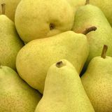 Pears on market Royalty Free Stock Image