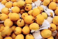 Pears on market Royalty Free Stock Photography
