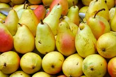 pears at the market royalty free stock image