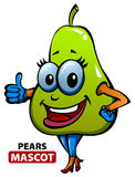 Pears Mascot. This is a cute and attractive mascot of pears Royalty Free Stock Photos