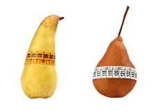 Pears measured the meter Royalty Free Stock Photos