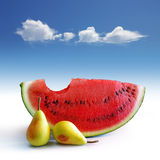 Pears and Melon Royalty Free Stock Images