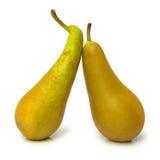 pears mogna två Royaltyfria Bilder