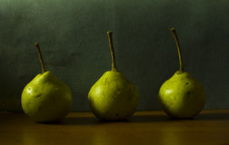 Pears. On a neutral background Royalty Free Stock Images