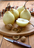 Pears and nuts. Royalty Free Stock Photography