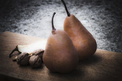 Pears and nuts Royalty Free Stock Images
