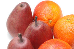 Pears and oranges royalty free stock photo