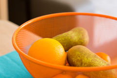 Pears and oranges Royalty Free Stock Images