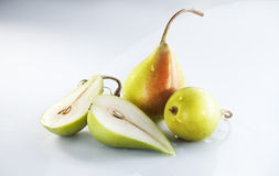 Pears. Over a white background Royalty Free Stock Image