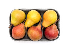 Pears packaged for sale Royalty Free Stock Photo