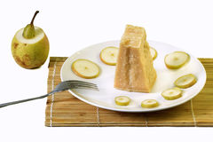 Pears and parmigiano cheese Stock Photography
