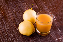 Pears and pear drink on Stock Photo