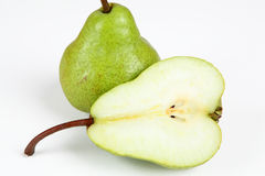 Pears. A pear with white background Stock Photography