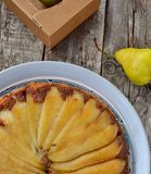 Pears pie Stock Image
