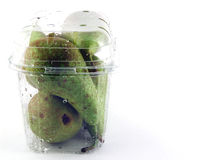 Pears in Plastic Package Royalty Free Stock Photography