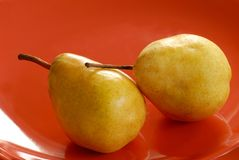 Pears on plate Royalty Free Stock Photography