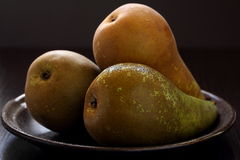 Pears in a plate. Royalty Free Stock Images