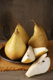 Pears in plate Royalty Free Stock Photos