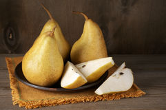Pears in plate Royalty Free Stock Photography
