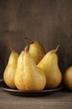 Pears in plate Stock Image