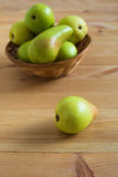 Pears on the plate Stock Photos