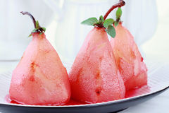 Pears Poached in Red Wine Royalty Free Stock Photo