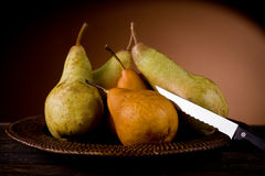 Pears in poor art style Royalty Free Stock Photos