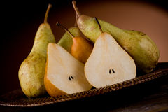 Pears in poor art style Royalty Free Stock Photo