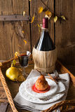Pears in red wine Stock Photography