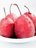 Pears with red wine Royalty Free Stock Photo