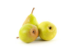 Pears. Ripe pears on a white background Royalty Free Stock Image