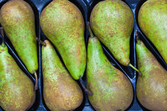 Pears in a row Stock Image