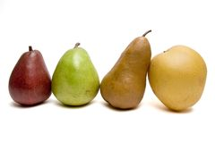 Pears in row Stock Photo