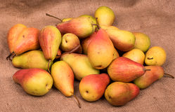 Pears on sacking Royalty Free Stock Images