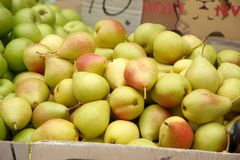 Pears for sale Stock Photos