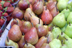 Pears for sale Royalty Free Stock Photos