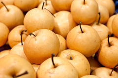 Pears for sale Royalty Free Stock Photography