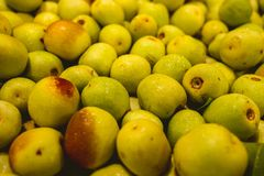 Pears of san juan well fresh, wet.  stock photos