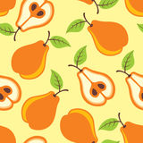Pears seamless pattern. Illustration Stock Photography