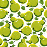 Pears seamless pattern. Stock Photos