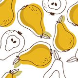 Seamless pattern with pears royalty free illustration