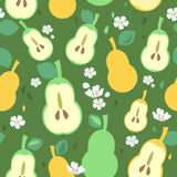 Pears Seamless Pattern Royalty Free Stock Photo