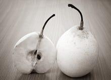 Pears sepia Stock Photo
