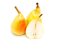 Pears with slice Stock Image