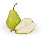 Pears som isoleras på white Royaltyfria Foton