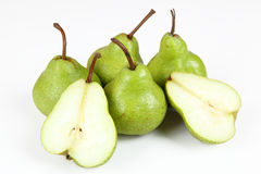 Pears. Some pears with white background Royalty Free Stock Photos