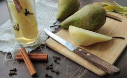Pears with spices Stock Images
