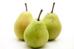 Pears with stem Stock Photo